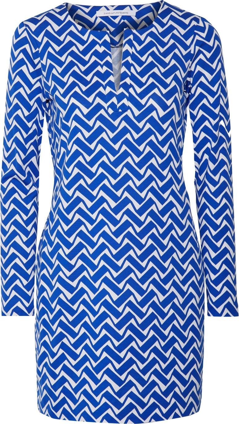 DIANE von FURSTENBERG - Reina printed cotton and silk-blend mini dress