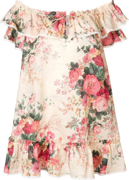 Zimmermann Floral print off shoulder dress