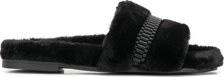 KENDALL + KYLIE Embellished faux fur slides