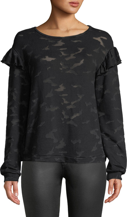 Generation Love Oliver Burnout Camo Tee with Ruffles