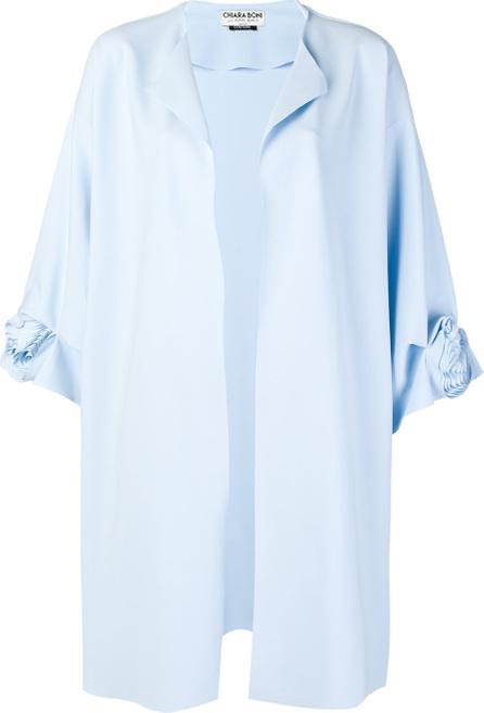 La Petite Robe di Chiara Boni Rose motif oversized coat