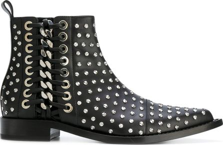Alexander McQueen Hobnail studded ankle boots