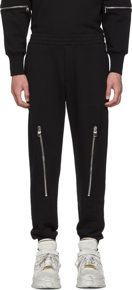 Alexander McQueen Black Zipper Lounge Pants