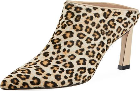 Stuart Weitzman Mira Leopard Fur High Mule