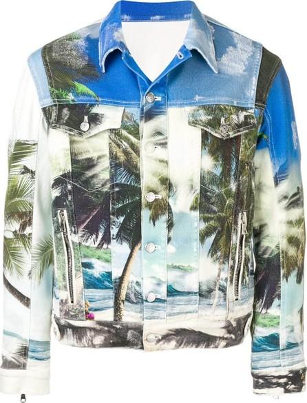 Balmain Beach printed denim jacket