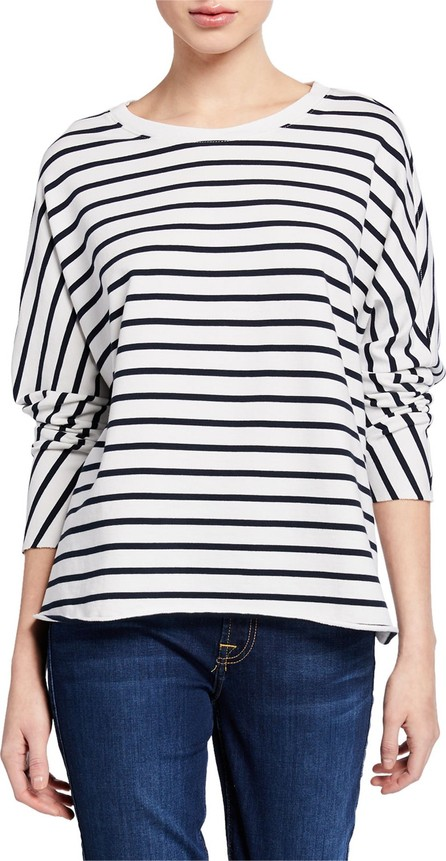 FOREO Striped Oversized Continuous-Sleeve Sweatshirt