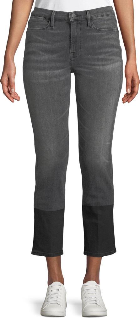 FRAME DENIM Le High Straight-Leg Cropped Jeans w/ Coated Hem
