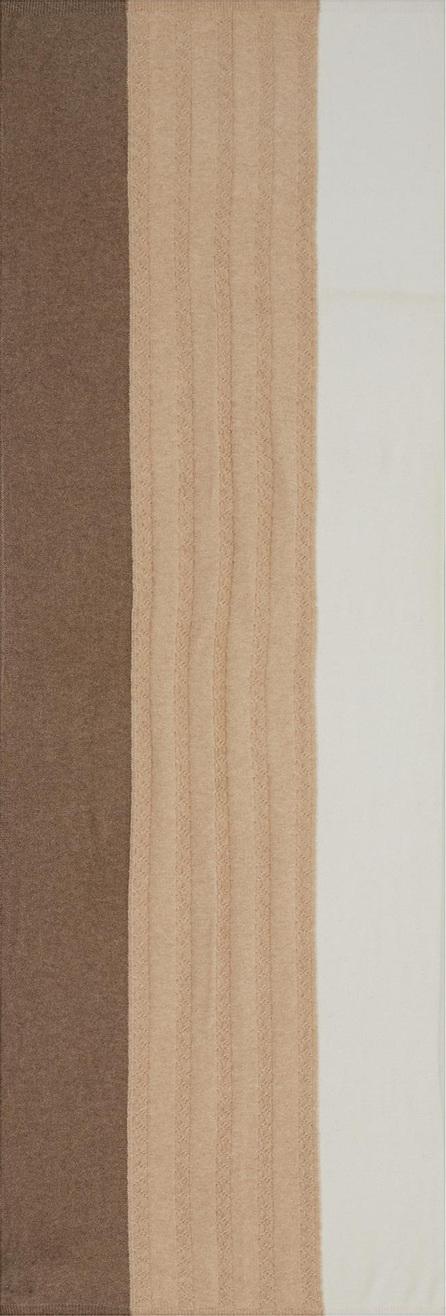 Ish Colourblock cashmere mix knit scarf