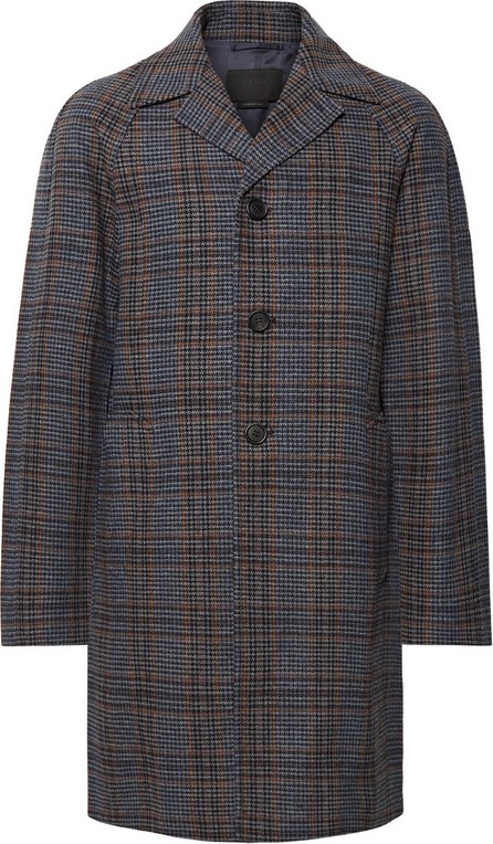 Prada Prince of Wales Checked Virgin Wool Coat