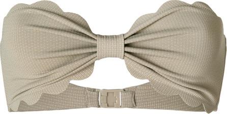 Marysia Strapless scalloped trim bikini top