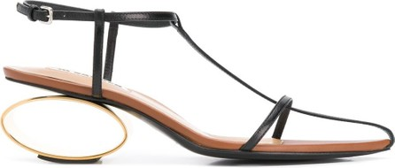 Jil Sander Interwoven strap leather sandals