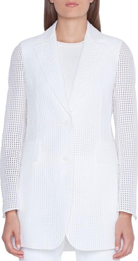 Akris Alina Square Ajoure-Sleeve Jacket