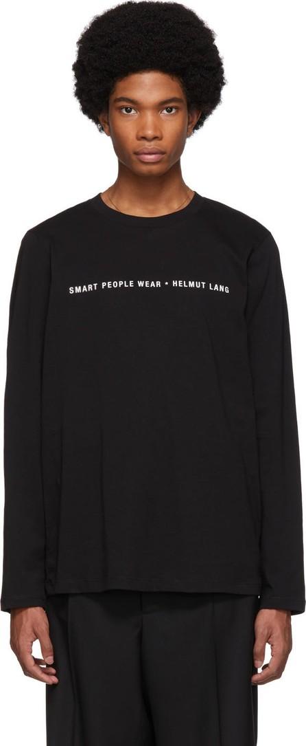 Helmut Lang Black 'Smart People' Long Sleeve T-Shirt