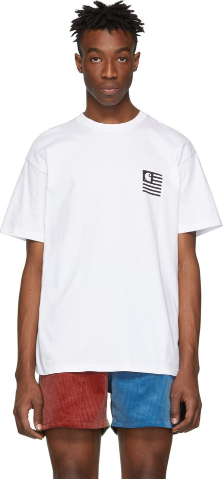 Carhartt Work In Progress White State Patch T-Shirt