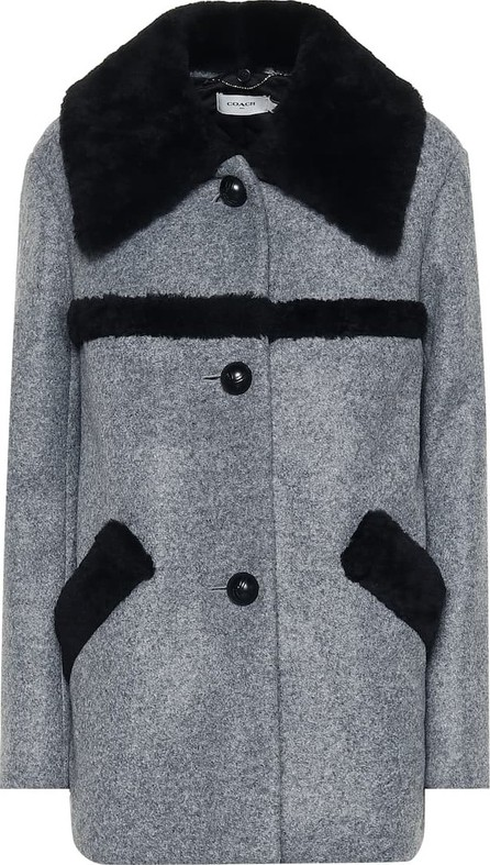 COACH Shearling-trimmed coat