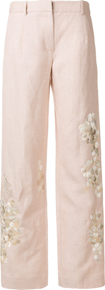 Alice Archer Embroidered tailored trousers