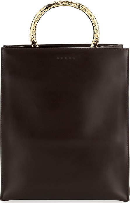 Marni Leather Tote Bag with Circles