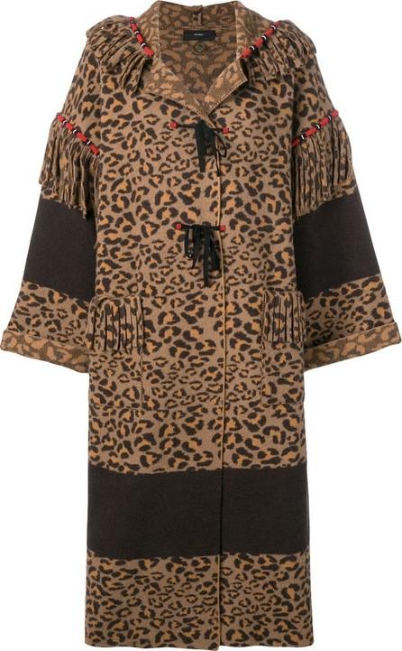 Alanui Leopard print coat