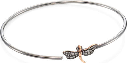 Annoushka 18K Gold & Diamond Dragonfly Bug Bangle