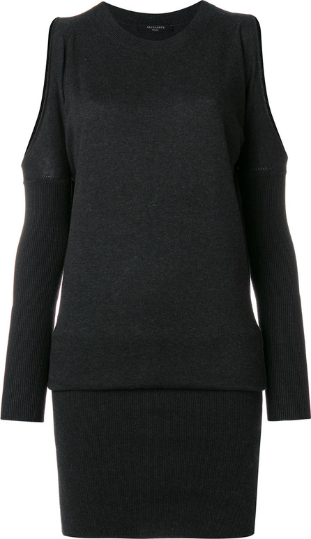 All Saints Cut out shoulders loose top sweater dress