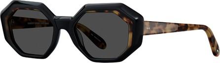 GARRETT LEIGHT Jacqueline Octagon Acetate Sunglasses