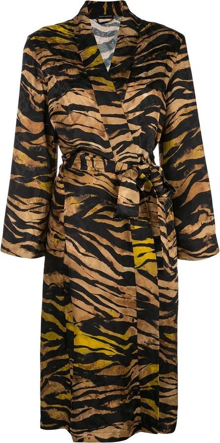 Josie by Natori Tiger-print jacquard robe