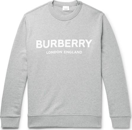 Burberry London England Logo-Print Mélange Loopback Cotton-Jersey Sweatshirt