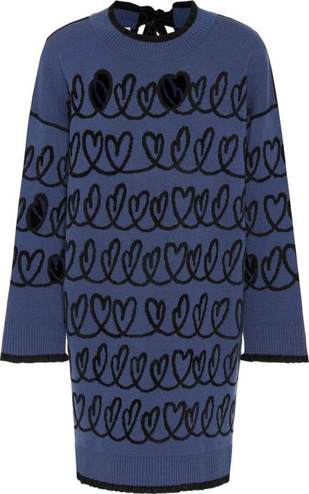 Fendi Intarsia wool-blend dress