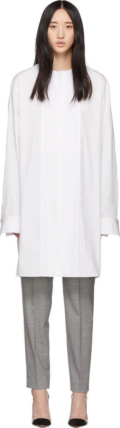 Haider Ackermann White Long Tunic Shirt