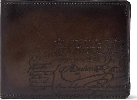 Berluti Essentiel Scritto Leather Billfold Wallet