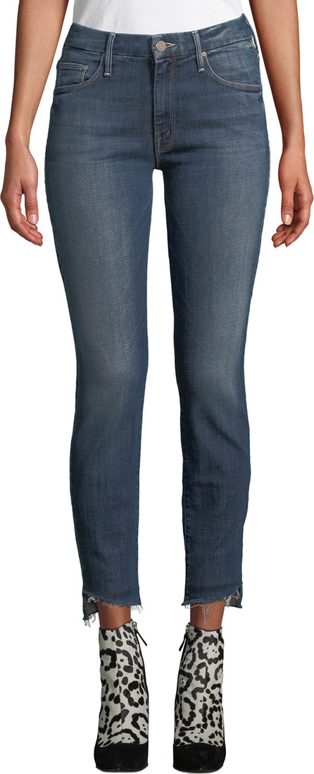 MOTHER The Looker Step-Hem Skinny Ankle Jeans