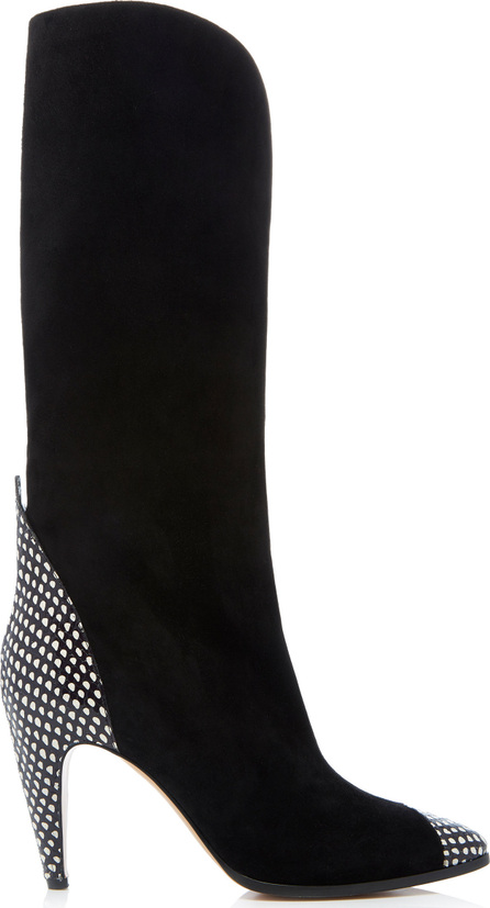 Givenchy Suede and Python High Heeled Show Boot