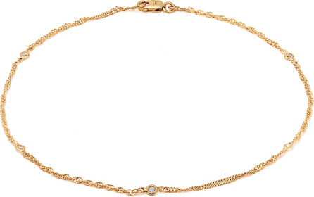 Theodora Warre Gold-plated sterling-silver chain anklet