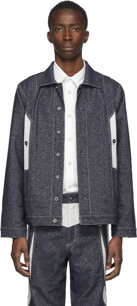 Kiko Kostadinov Indigo & Off-White Denim Tulcea Jacket
