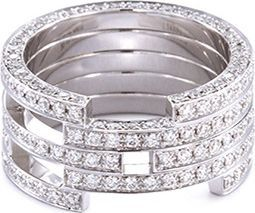 Dauphin Diamond 18k white gold ring