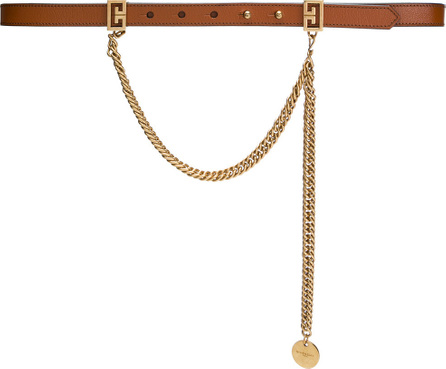 Givenchy Double G buckle and chain thin belt