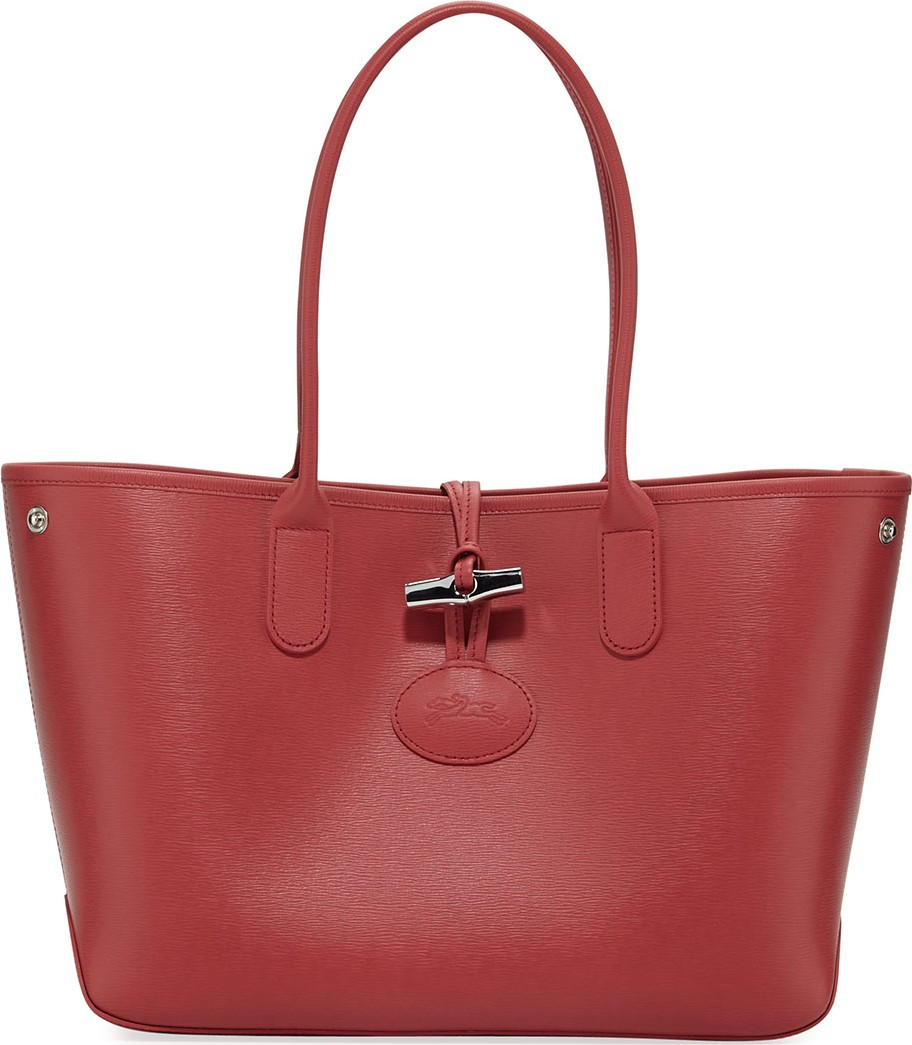 Roseau Small Leather Shoulder Tote Bag