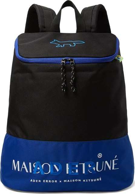 Maison Kitsune + ADER error Logo-Embroidered Printed Canvas Backpack
