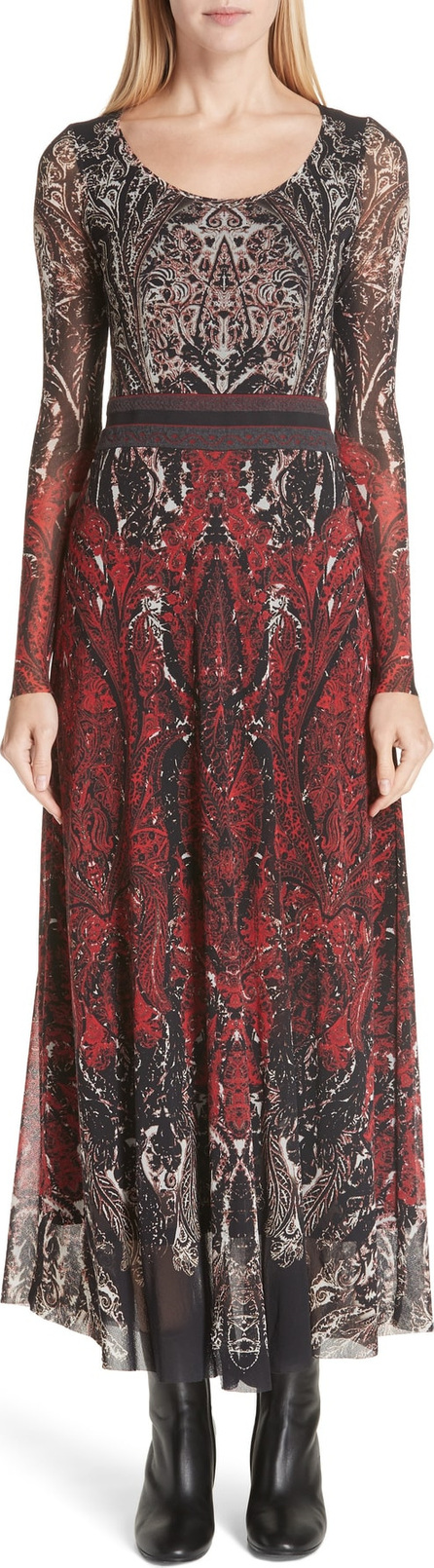 Fuzzi Paisley Tulle Two-Way Dress