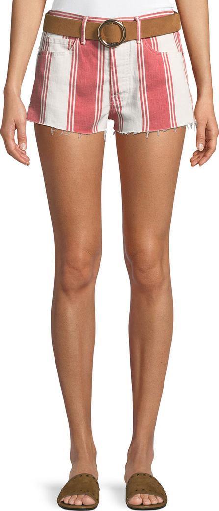 FRAME DENIM Le Cutoff Slit Striped Denim Shorts