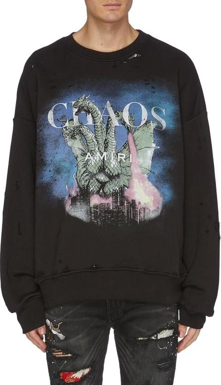 Amiri 'City Dragon' graphic print distressed sweatshirt