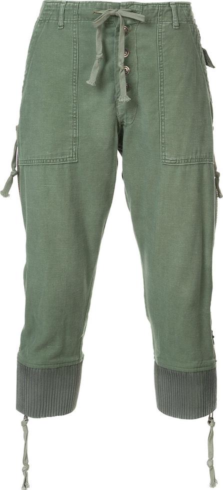 Greg Lauren Drop-crotch cropped trousers