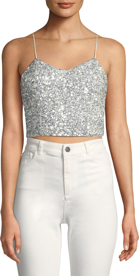 AO.LA Archer Embellished Cropped Cami Top