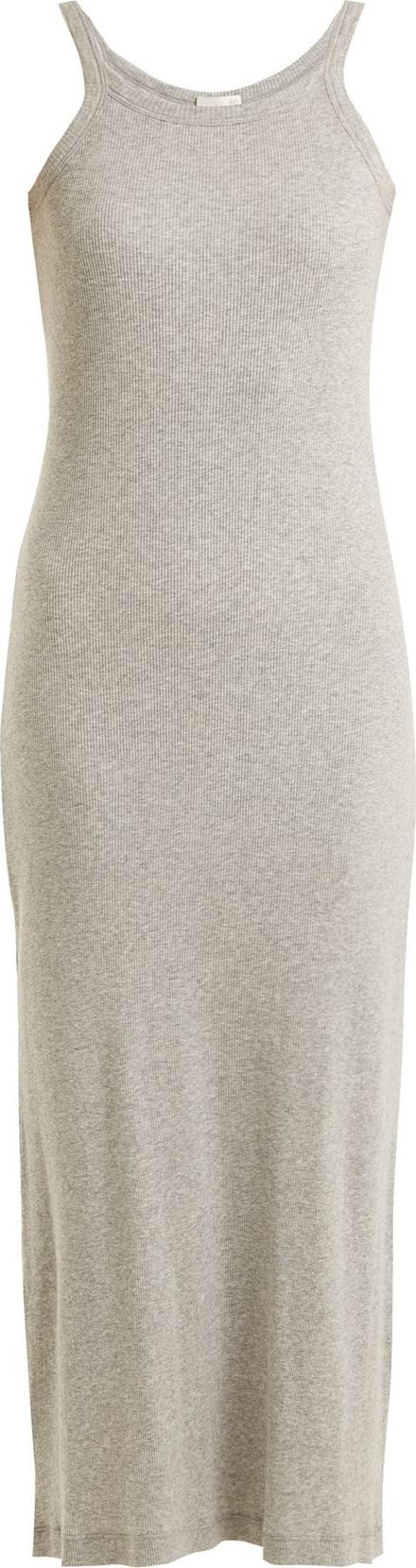 SKIN Zenia ribbed-cotton dress