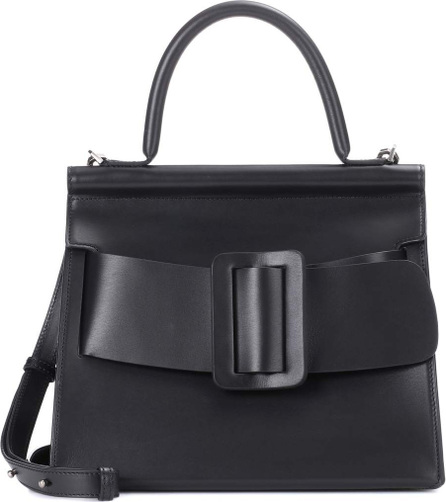 Karl leather shoulder bag