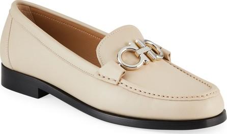 Salvatore Ferragamo Rolo Calf Leather Loafers with Reversible Gancini Bit