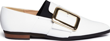 Fabio Rusconi Oversized buckle nappa leather slip-ons
