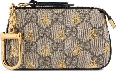 Gucci Linea A GG Supreme Bee Key Case