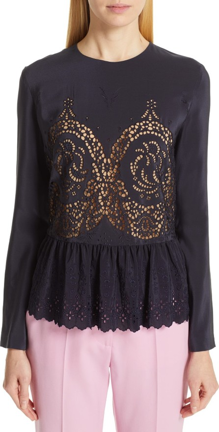 Stella McCartney Eyelet Peplum Blouse
