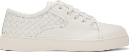 Bottega Veneta White Intrecciato Dodger Sneakers